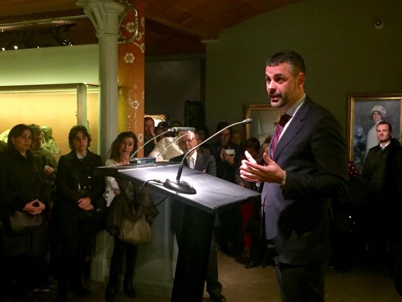 Santi Vila inaugura Ramon Casas La vida moderna