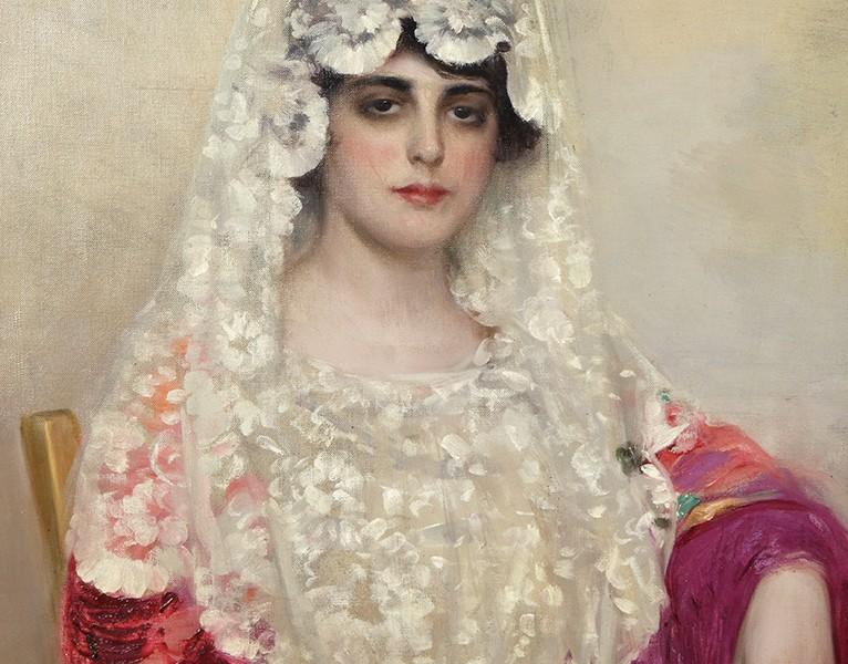 Mantilla blanca. Hacia 1915. Óleo sobre tela