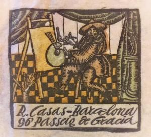 Membrete de la correspondencia de Ramon Casas
