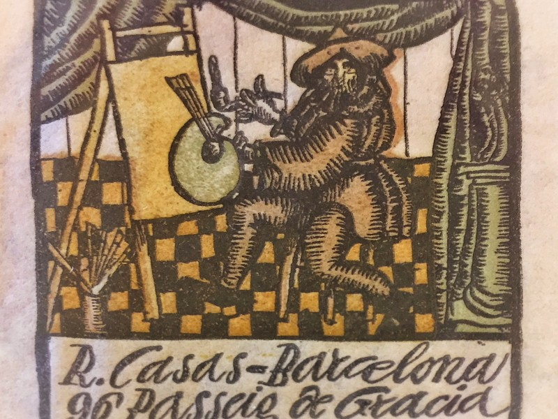 Capçalera de la correspondència de Ramon Casas
