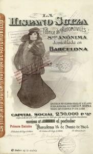 1ª emisión de las acciones de la Hispano Suiza. Junio 1904