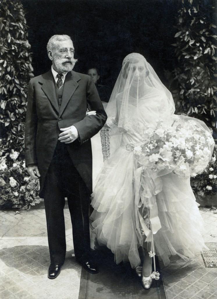 Ramon Casas fue el padrino de bodas de su sobrina Glòria Codina el día en el que contrajo nupcias, en 1929. Col. Galeria Cortina