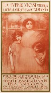 Cartell de La tuberculosi, 1929. Cromolitografia sobre paper en tres cossos