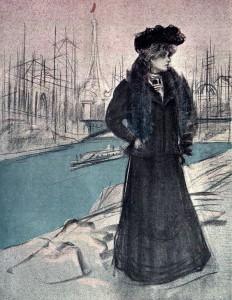 Pèl & Ploma editó un número doble el 21 de abril de 1900 dedicado a la Exposición Universal. Esta ilustración acompañaba las crónicas de Casas hechas desde París.