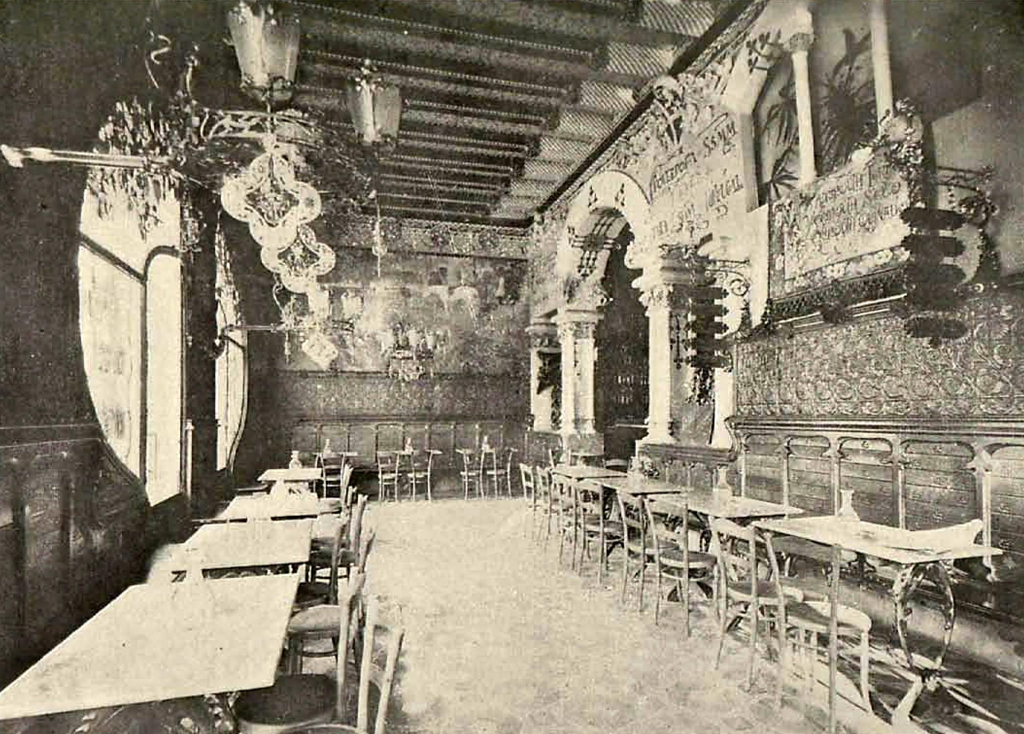 Café Torino. Vista interior (1902)