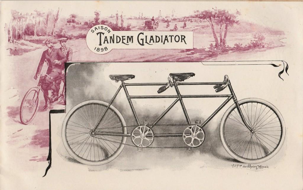 Catalogue des Cycles Gladiator pour l'année 1898