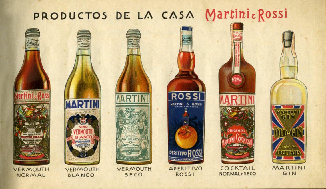 Álbum Martini & Rossi – Botellas de los 6 productos (1935