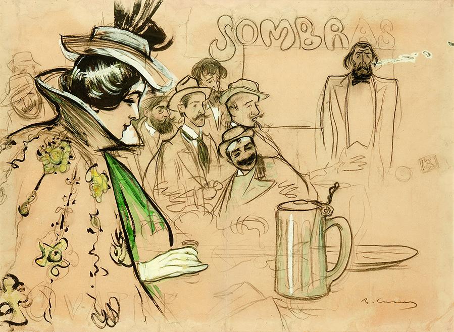 01 2731_casas Sombras, 1897. Carboncillo, guaix y acuarela sobre papel, 66x90cm BR