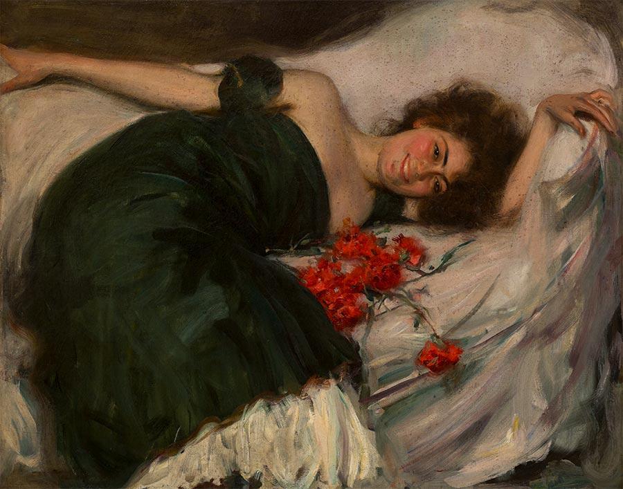 la flora-oleo sobre lienzo-c1906