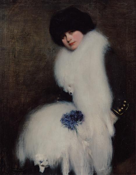 Estudio de mujer. Óleo sobre tela, c. 1911.