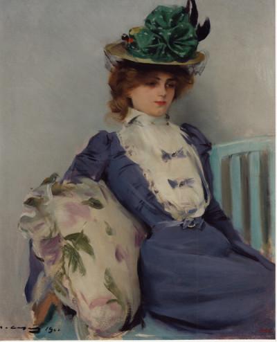La parisina. Óleo sobre tela, c. 1900.