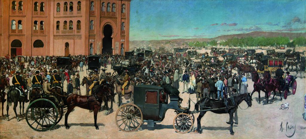 Entrada a la plaza de toros de Madrid. Óleo sobre tela, 1886. Fundació Vila Casas.