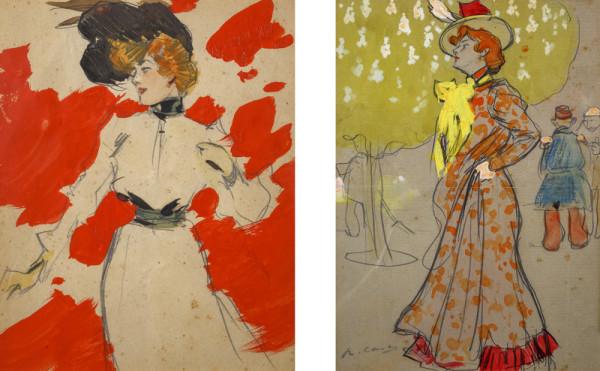 Ilustraciones de la serie realizada en París entre los meses de marzo y octubre de 1900.