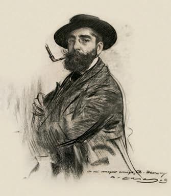 Autorretrato. Carboncillo sobre papel, 1909.