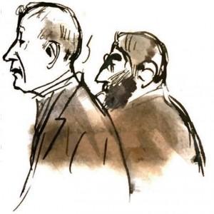 La imagen superior muestra una caricatura de perfil de los dos grandes amigos Casas y Deering, dibujada por el artista en una carta manuscrita enviada desde Colorado Springs, el 23 de noviembre de 1908.