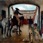 Sobre estas líneas, interior de la plaza de toros del Torín de Barcelona pintado por Casas. El artista se valía de los propios toreros y banderilleros de cada plaza utilizándolos como modelos para sus composiciones.